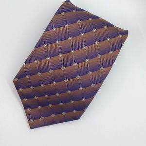 Nautica Geometric Iridescent Purple Necktie